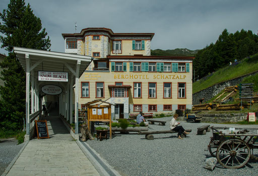 Eingangsbereich zum Berghotel Schatzalm