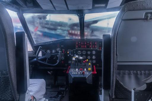 Löschflugzeug, Blick ins Cockpit