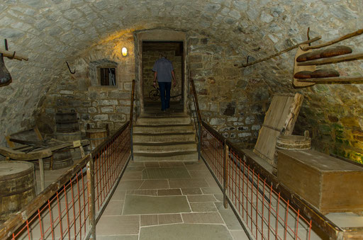 Kellertreppe, Bild aus dem Rhöner Museumsdorf Tann