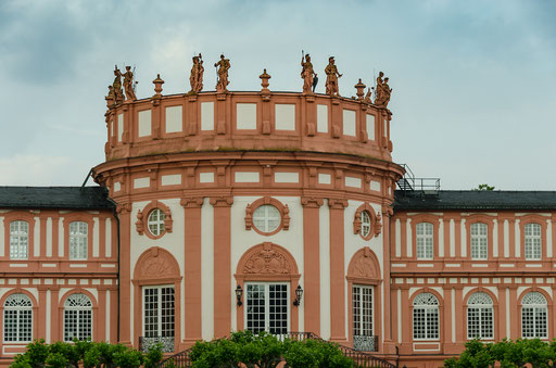 Das Schloss Biebrich, ehemalige Residenz der Herzöge von Nassau