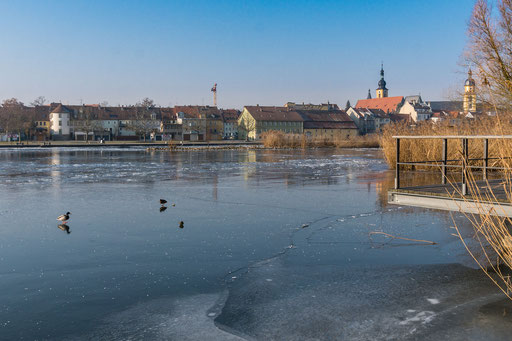 Im Stadtbereich von Kitzingen