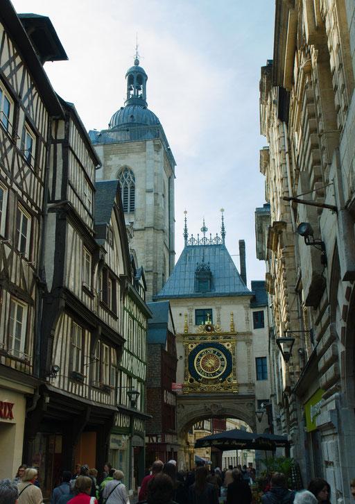 Rouen; Die Altstadt mit ihren engen Gassen