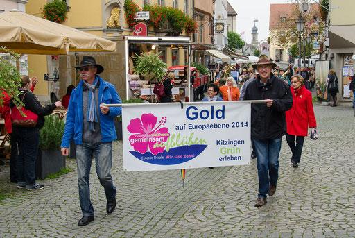 Der wichtigster Banner für die Stadt Kitzingen