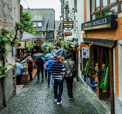 Lokalitäten und Geschäfte in der Drosselgasse