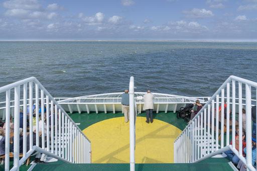 Das Ziel der Fähre ist die dänische Insel Romo
