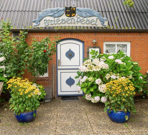 Ein wunderschöner Eingang ins Gasthaus Friesen Pesel