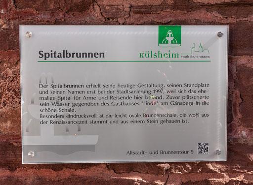 Info zum Spitalbrunnen, Külsheim, TBB