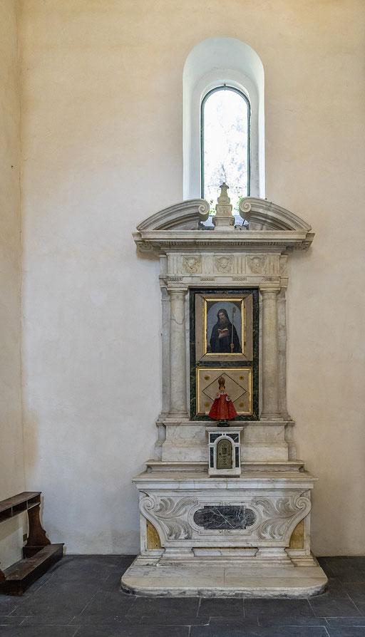 Die Klosterkirche der ehemalige Abtei San Fruttouso