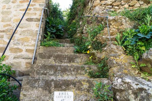 Steiler Treppenaufgang