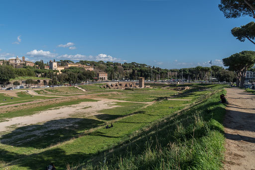 """Das obere Ende des """"Circus Maximus"""""""