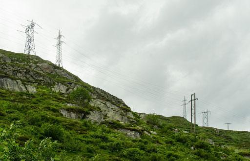 Die Freileitungstrassen der Eidgenössischen Stromversorgung