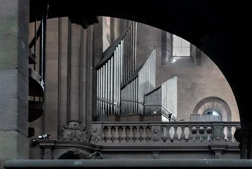 Seitenansicht der Orgel