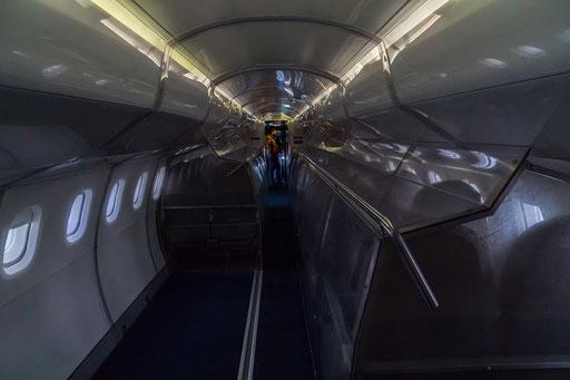 BAC Concorde 101/102, Kabine mit der Sitzreihe