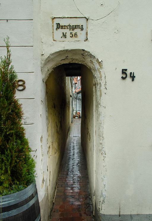 Der Durchgang Nr. 56. Früher gabs davon ca. 200, heute sind noch 80 dieser kurzen Verbindungen zwischen 2 Straßen vorhanden.