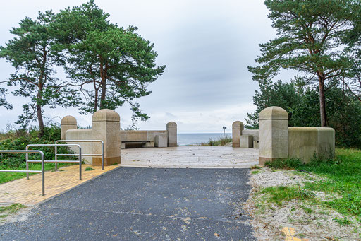 Der Eingang zum Ostseestrand