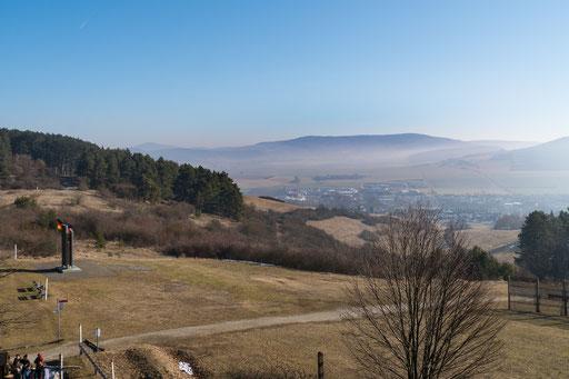 Blick vom US-Beobachtungsturm auf den Ort Geisa (Thüringen)