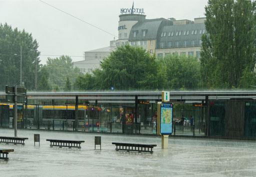 Heftiges Gewitter mit Starkregen