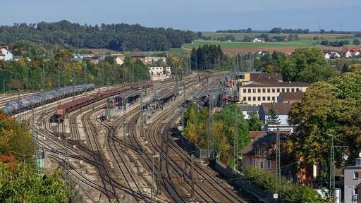 Das Areal des Bahnhofes