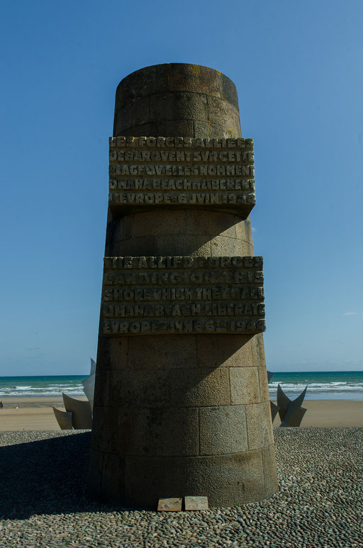 D-DAY Monument am Landungabschnitt Omaha Beach