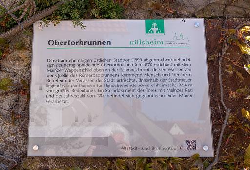 Info zum Obertorbrunnen, Külsheim, TBB