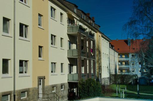 Innere Sulzfelder Straße, Rückseite
