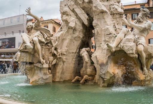 Schöne Brunnenanlage
