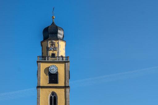 Turm vom Johannes d. T.  Münster in Bad Mergentheim
