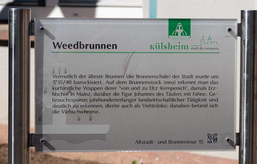 Info zum Weedbrunnen, Külsheim, TBB
