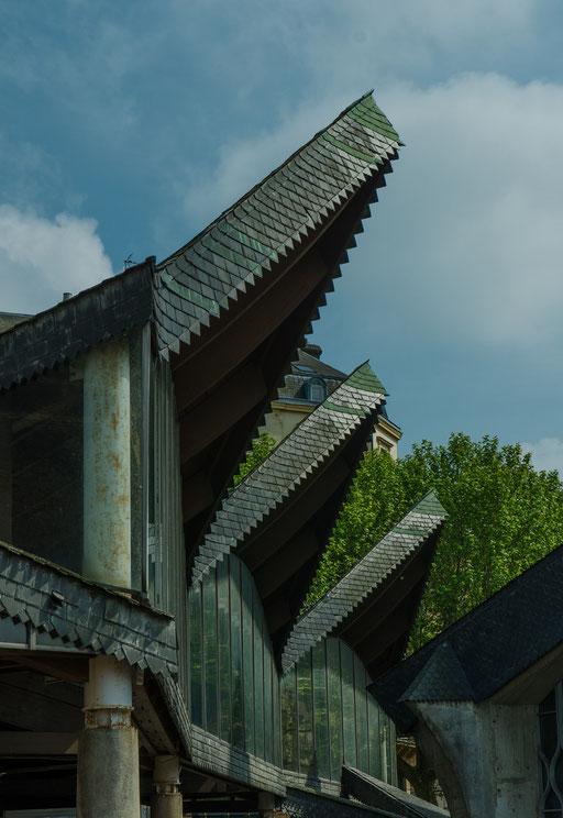 Rouen; Das Dach der Markthallen