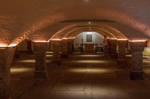 In der Krypta von St. Michaelis