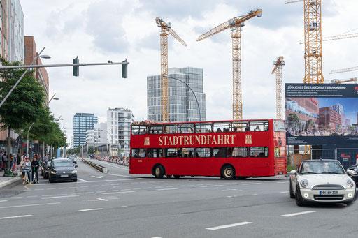 Im neuen Hamburger Stadtteil Hafencity reiht sich Baustelle an Baustelle