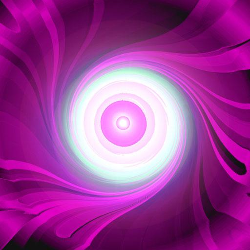 Lila Energie-Spirale, Copyrights © Ramon Labusch