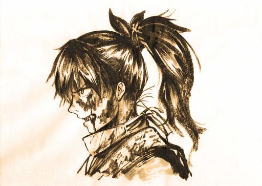 墨絵本 製作中画像(I'm making a book of Japanese ink painting)
