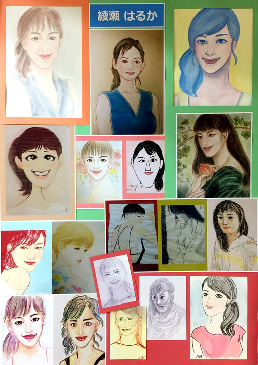 彩紗春香さんの美人画を描いてみよう!