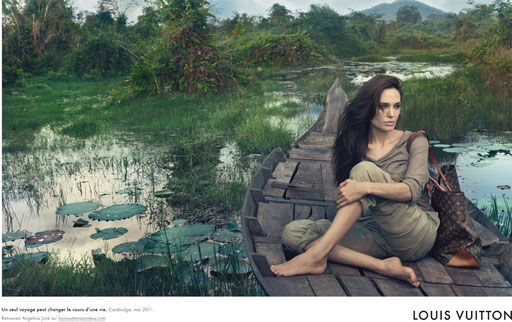Star avec du Louis Vuitton Angelina jolie publicité Louis Vuitton