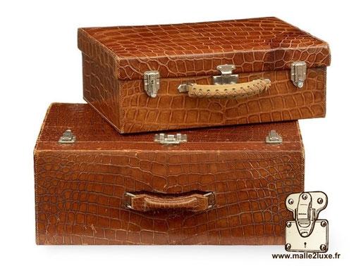 Hermes paris crocodile leather suitcase