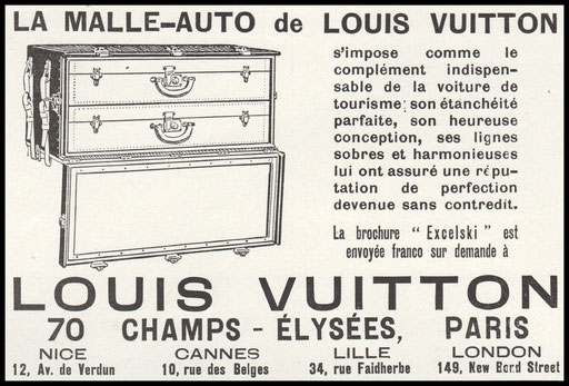 malle automobile ancienne louis vuitton