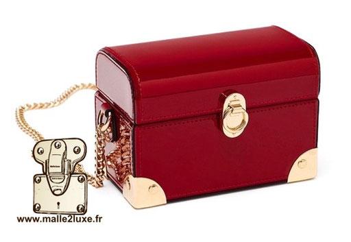 mini malle trunk petit vintage pas cher rouge boite