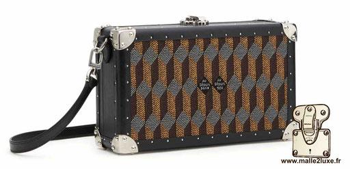 mini trunk le sac a main pour femme look vintage petite au depart toile enduite marron