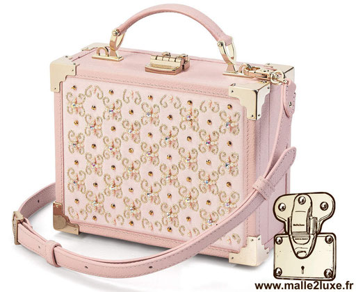 sac a main petite malle pas cher tendance MINI TRUNK CLUTCH - ASPINAL OF LONDON