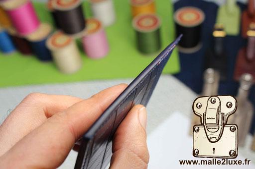 astiquage de qualité sur cuir malle2luxe maroquinerie