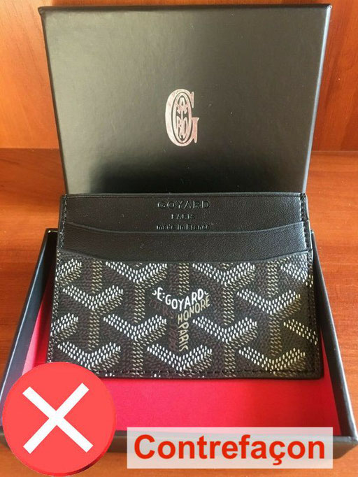 Saint Sulpice goyard counterfeit gray card holder