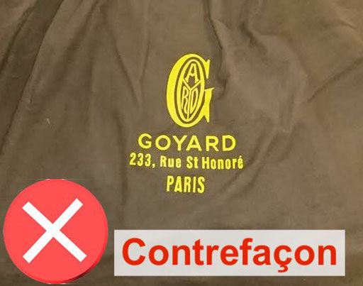 Dust bag Goyard contrefaçon copie