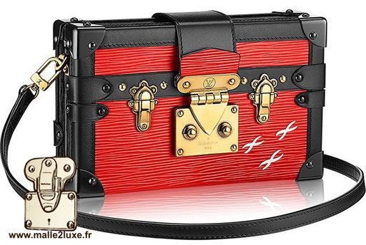 sac petite Malle Louis Vuitton rouge toile