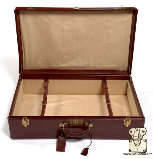 Hermes paris leather interior suitcase