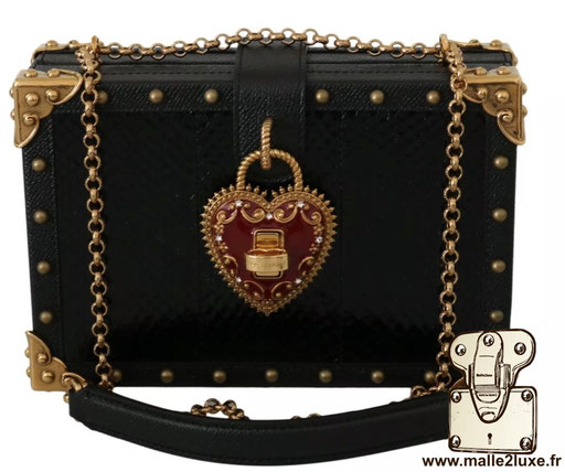 BOX BAG - DOLCE & GABBANA sac a main rigide mini trunk