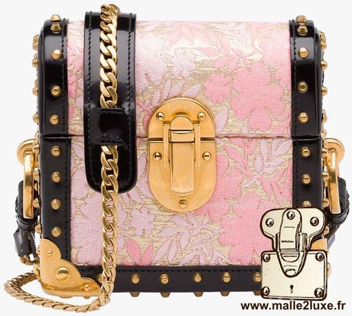 petite malle pochette de luxe Prada  rose