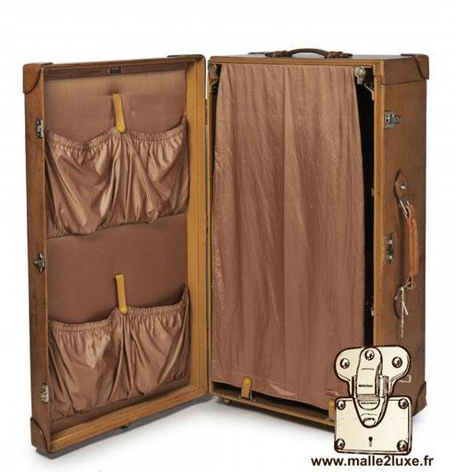 Valise Hermes paris cuir malle wardrobe