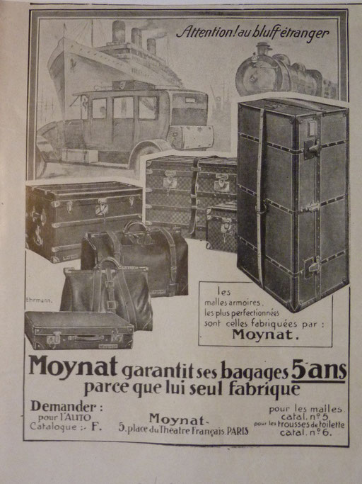 catalogue Moynat malle ancienne