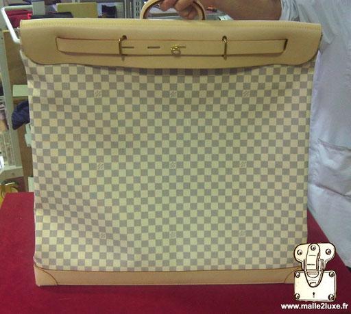 Steamer bag Louis Vuitton toile damier commande spéciale
